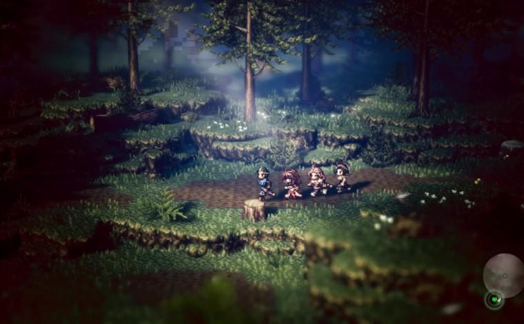 Octopath Traveler - Gameplay dans la forêt