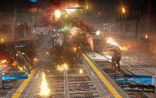 Final Fantasy VII Remake : 2 images des combats