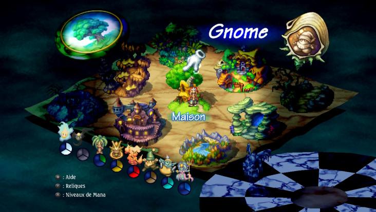 Legend of Mana - Carte du monde